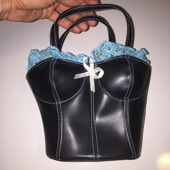 05fef87cd49 Giannini Handbags - Giannini Faux Leather   Lace Bustier Corset Purse